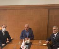 Ümraniye Belediye Başk.Sn.İsmet Yıldırım ve Bel.Başk.Yard.Mesut Özdemir'le pazarlarımızın genel durumu ve oluşturulacak Kapalı Pazaryerleri ile ilgili görüş alışverişinde bulunduk...