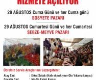Ataşehir Barbaros Mahallesi Kapalı Pazarı 28 ve 29 AĞUSTOS 'da hizmete açılıyor